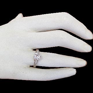 Art Deco Platinum and Diamond Lady's Filigree Ring