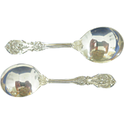 Two Reed & Barton Sterling Francis I Round Bowl Soup Spoons