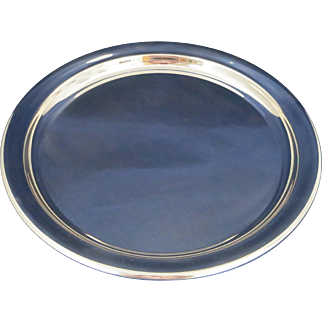 Huge & Heavy Towle Sterling Round Tray - Excellent