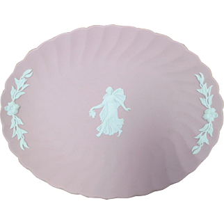 Wedgwood Jasperware Pink Oval Tray