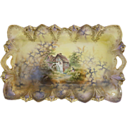 Marked R S Prussia Mill Scene Tray
