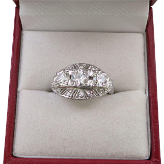 Lady's Platinum and 1.31 Carat Diamond Ring