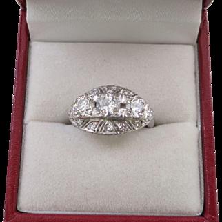 Lady's Platinum and 1.31 Carat Diamond Ring