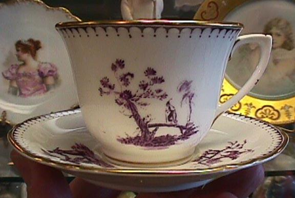 Hand Painted Royal Worcester Cup & Saucer