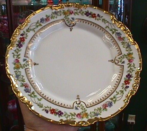 Set of 4 Limoges with Floral and Gold Trim