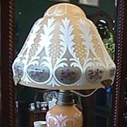 Hand Painted Czechoslovakian Czech Czechoslovakia Lamp