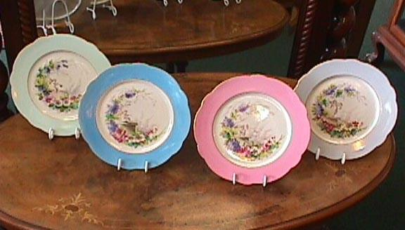 Early Handpainted Cherub Plates - Pastels