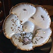Haviland Limoges Sea Motif Oyster Plate #3 - Late 1800's