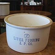 Zanesville Pottery Co. Advertising Crock