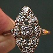 Lady's  Circa 1920s or 1930s 14 K White Gold Diamond Ring