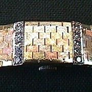 Lady's 14KT Tri-Colored Baume & Mercier Geneve Bracelet Watch