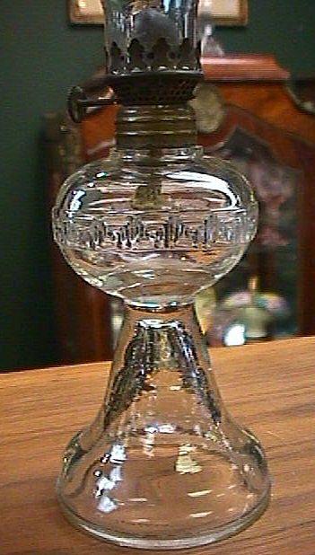 Antique Miniature Oil Lamp Greek Key From