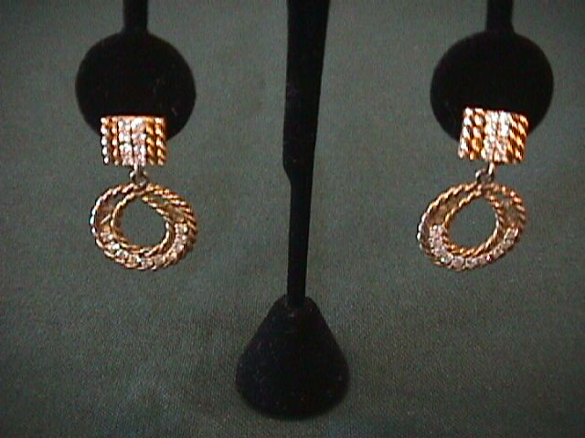 14K Yellow Gold Dangling Loop Earrings - 2 Carats of Diamonds
