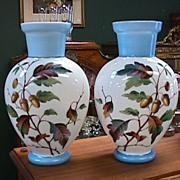 Victorian Mantel Vases - Mirror Image