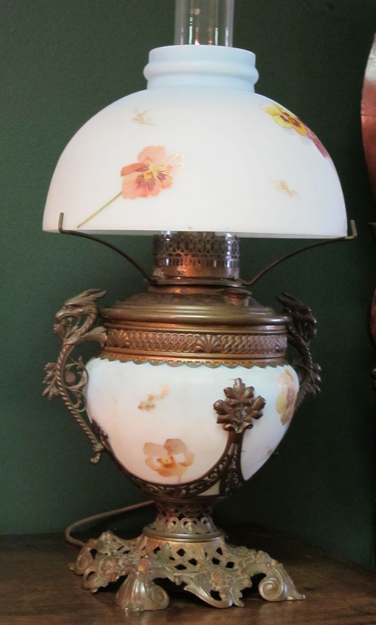 Smith Bros. Oil Lamp Convert to Electric from crossroadsantiques ...