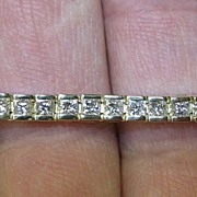 Lady's 14K Gold & 5.5 Carat VVS Diamond Bracelet