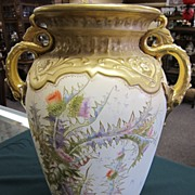 HUGE Royal Bonn Handpainted Vase - Gold!!!