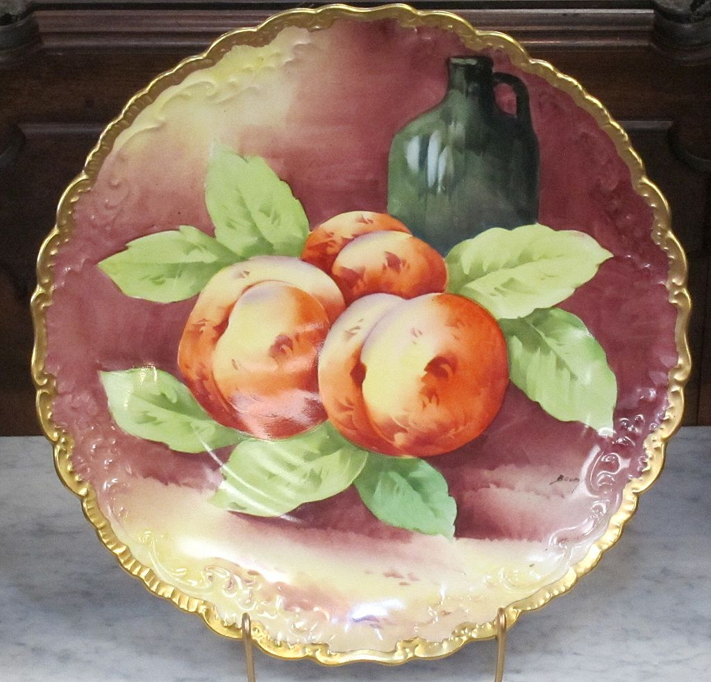 Huge & Beautiful Limoges Artist Signed Charger - Baumy