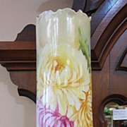 Gorgeous & Huge Handpainted Limoges Vase - Mums