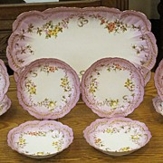 Limoges Ice Cream Set - Hand Painted Ca. 1900