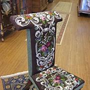 Victorian Prayer Chair - Excellent Bead Work