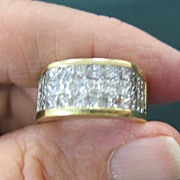 Fabulous Man's 18K Yellow Gold & Diamond Ring