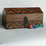 Wooden Box with Applied Metalwork