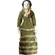 China Head Doll, circa 1870s
