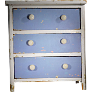 Primitive Miniature Chest of Drawers, Waterloo, Quebec 1855