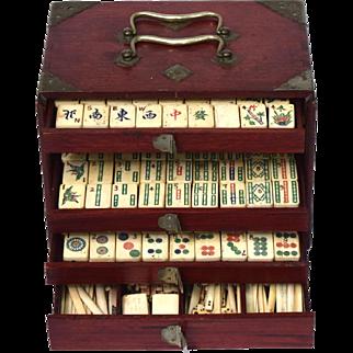 Bone and Bamboo Mahjong Set, 1920s