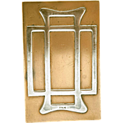 Art Nouveau Mixed Metal Matchbox Cover, Sterling on Bronze