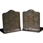 Tiffany Studios New York Bronze Zodiac Bookends