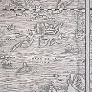 Terza Tavola Rare Map 1554 Ramusio's Delle Navigationi e Viaggi