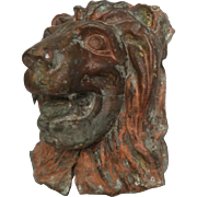 Architectural Copper Lion Head