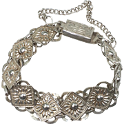 Chinese Coin Silver Link Bracelet