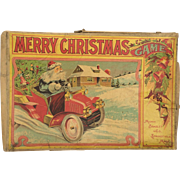 1907 Milton Bradley Merry Christmas Board Game with Rare Prize Cards