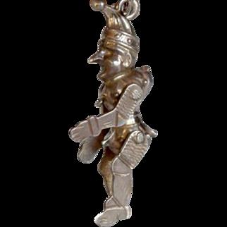 800 Silver German Movable Kasperle Charm
