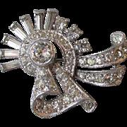 Vintage Deco Retro Rhinestone Pin or Pendant