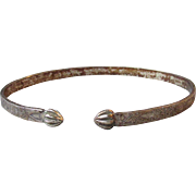 Vintage 1920's Deco Sterling Silver Upper Arm Flapper Bangle Bracelet