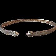 Vintage 1920's Deco Sterling Silver Upper Arm Flapper Bangle Bracelet