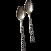 "Vintage Norwegian 830S Silver Nils Hansen ""Juvel"" Pattern Demitasse Spoon Set Of 2"