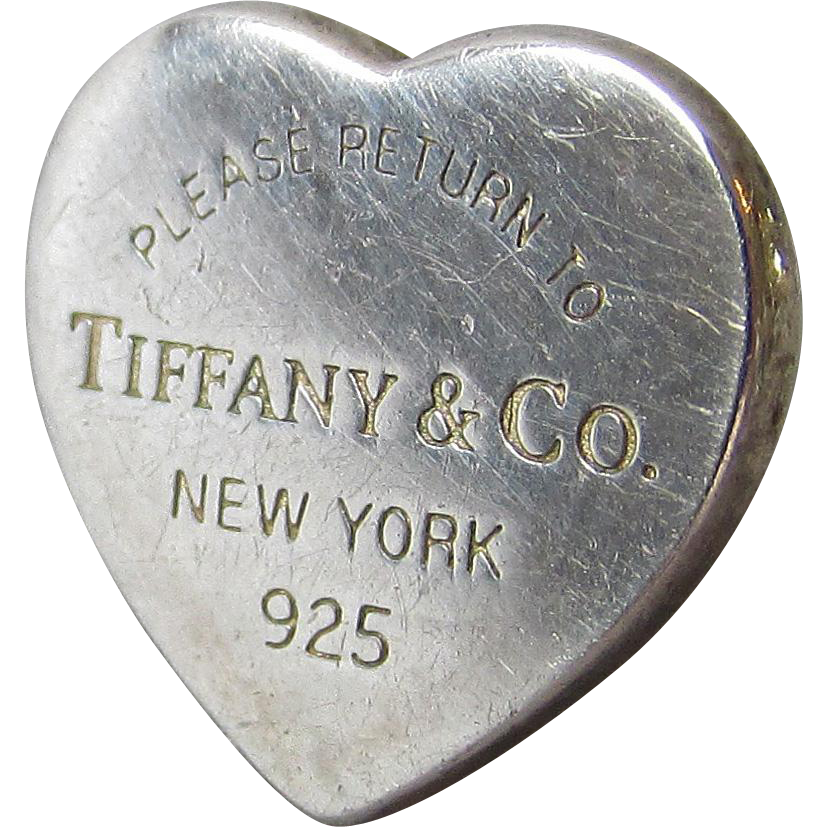 SINGLE Vintage Authentic Tiffany & Co. Return to Tiffany and Co. Heart Pierced Stud Earring
