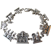 James Avery Sterling Silver Nativity Link Vintage Bracelet