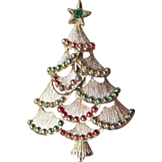 Vintage 1960's Signed GERRY'S Enamel Christmas Tree Pin