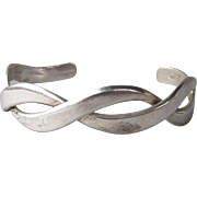 Twisted Vintage Sterling Silver Cuff Bracelet