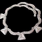 Magnificent Fine Cannetille Filigree Sterling Silver Vintage Collar Necklace