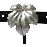 Signed Jewelart Vintage Sterling Silver Cannabis Leaf Pin