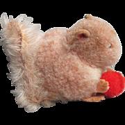 """Tiniest 2"""" Vintage STEIFF Wool Squirrel"""