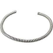 Thin Sterling Silver Vintage ROPE Cuff Bracelet