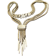 Fantastic Signed Early MONET 1930's Art Deco Slide Bolo Necklace